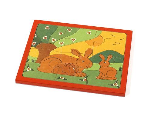 """Weizenkorn Puzzle """"Hasenfamilie"""""""