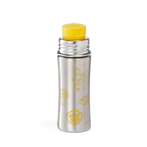 Affenzahn Edelstahl- Trinkflasche mit Big Mouth- Silikonverschluss gelb