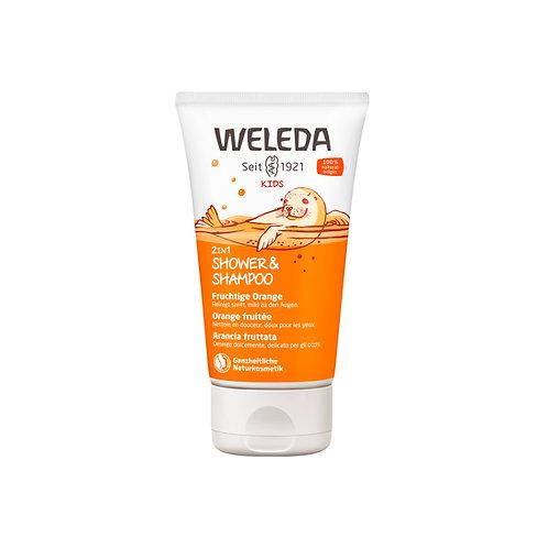 Weleda 2in1 Shower und Shampoo Kids fruchtige Orange
