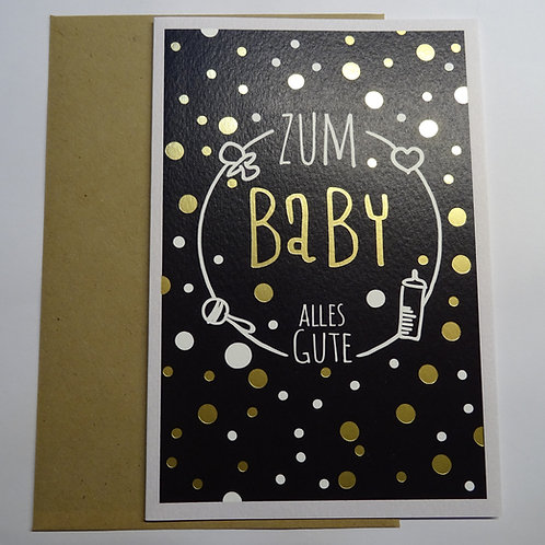 Faltkarte Zum Baby Alles Gute