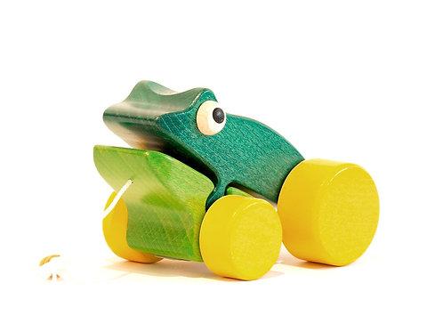 Frosch aus Holz zum ziehen