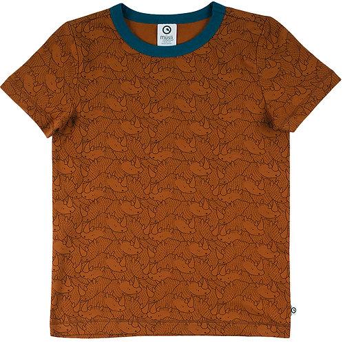 Green Cotton Müsli Rhino Shirt kurzarm Ocker