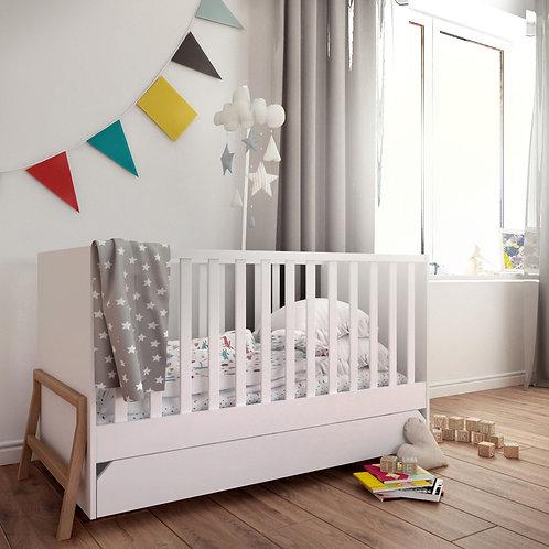 Bisal Kinderbett mit Schublade Lotta 70x140cm weiss