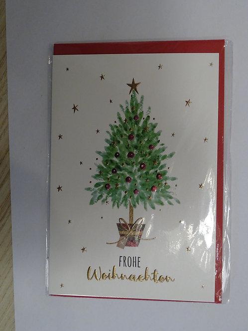 Weihnachts Karte Frohe Weihnachten