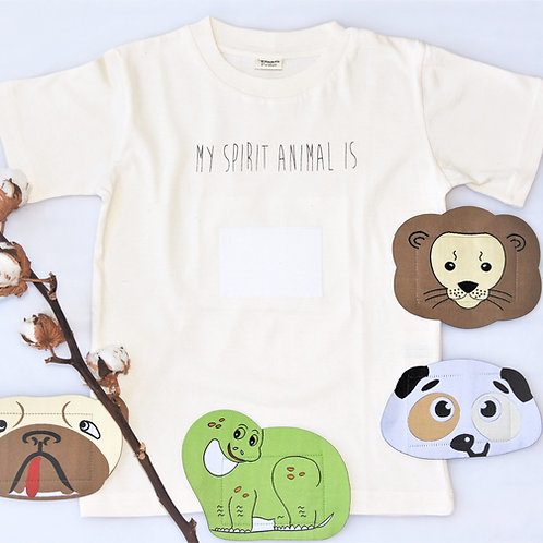 T- Shirt My Spirit Animal Pamboo Bio Baumwolle inkl 4 Stickern