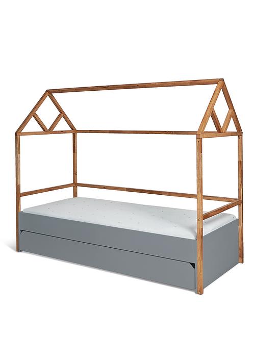 Bisal Kinderbett mit Schublade Lotta 90x200cm grau