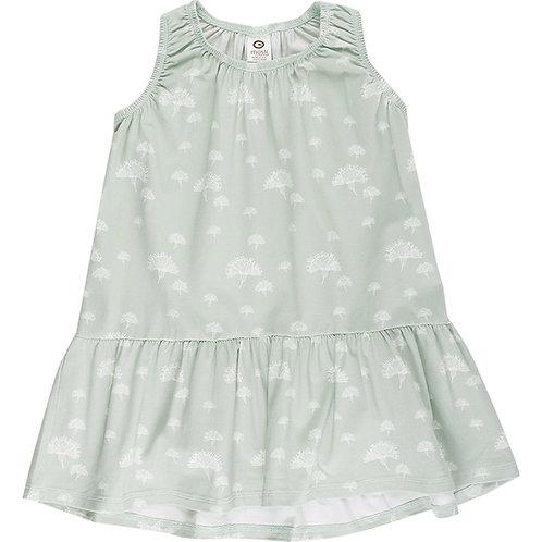 Green Cotton Müsli Pusteblumen Kleid Misty Green