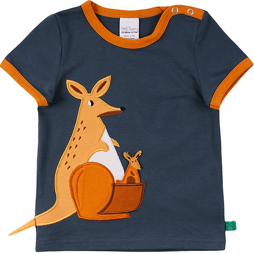 Hello Kangaroo kurzarm Shirt- T Shirt Baby midnight by Green Cotton Freds World