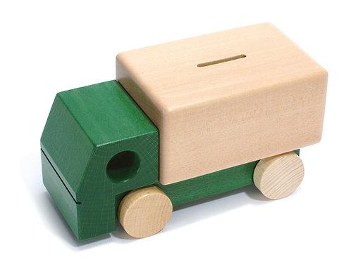 Weizenkorn Sparkasse Lastwagen grün