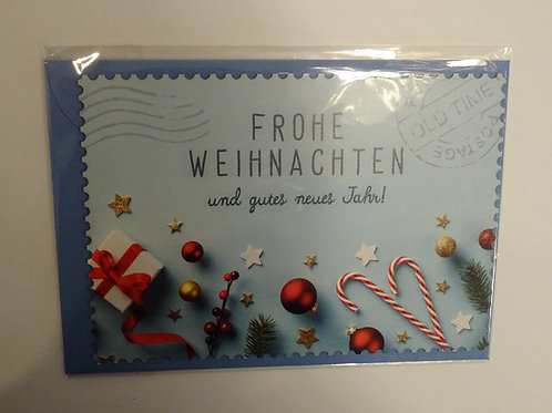 Weihnachts Karte Old Time Postcard mit Couvert