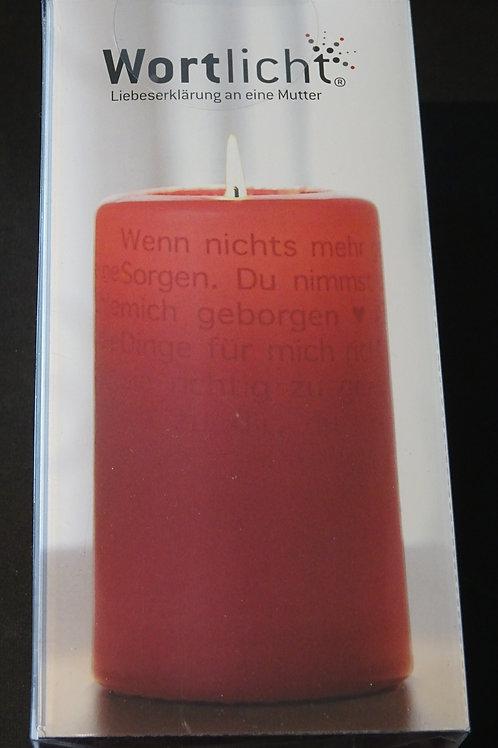 """Kerze Wortlicht """"Mutter"""""""