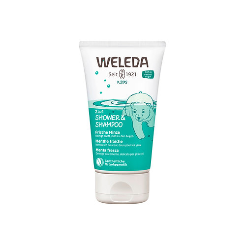 Weleda 2in1 Shower&Shampoo Kids frische Minze