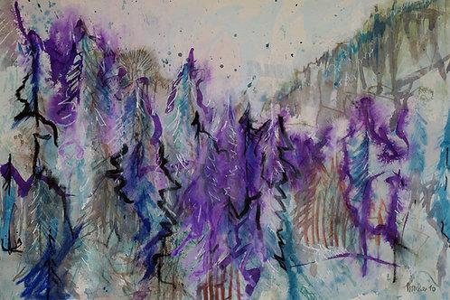 "Kunstkarte A5 ""abstrakte Bäume"""