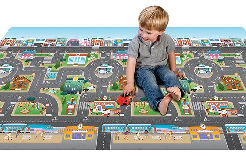 Mega Spielmatte 2- Seitig City /Fantasyland