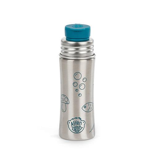 Affenzahn Edelstahl- Trinkflasche mit Big Mouth- Silikonverschluss petrol