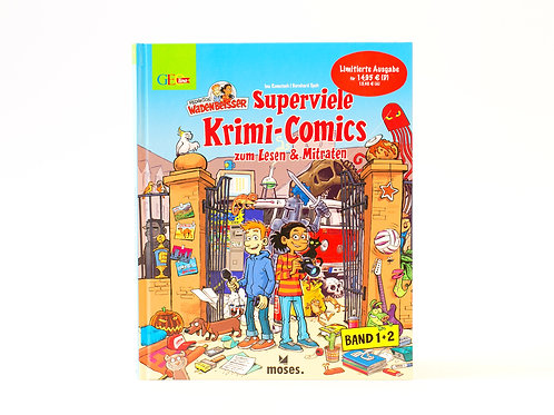 Superviele Krimi-Comics zum Lesen und Mitraten Band 1 und 2
