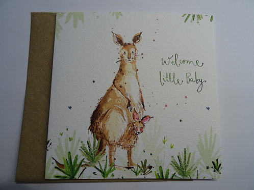 Faltkarte Welcome little Baby Kangaroo