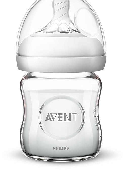 Avent Philips  Natural Babyflasche Glas 120ml 0m+