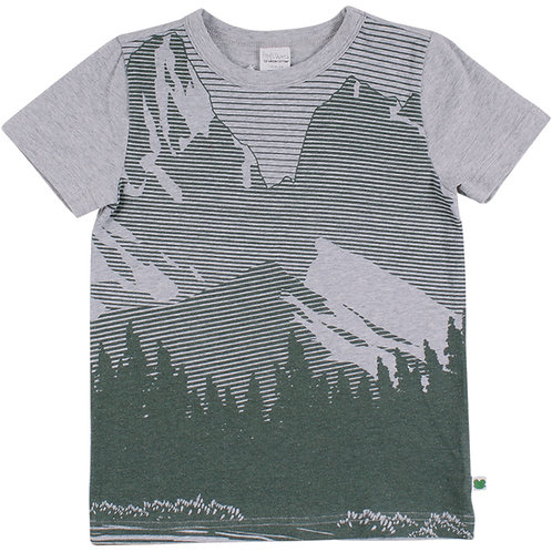 Green Cotton Fred s World Hiking Mountain T-Shirt