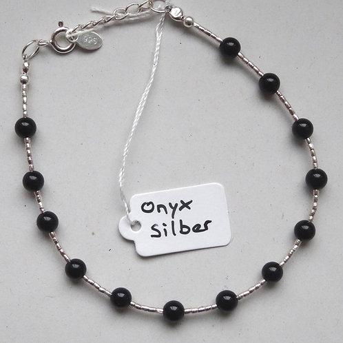 Armkette Onyx Silber 925