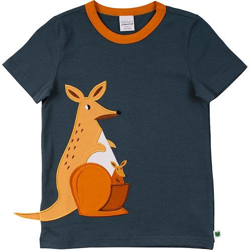 Hello Kangaroo kurzarm Shirt- T Shirt Kids midnigth by Green Cotton Freds World