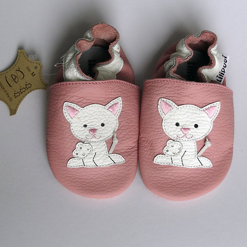 Liliputi Leder Krabbelschuhe Pink Pussycat