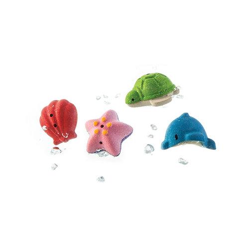 Plan Toys Sealife Badeset 4 teilig Holz