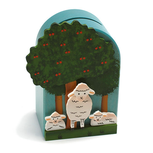 """Weizenkorn Sparkasse """"Schafe unter dem Kirschbaum"""""""