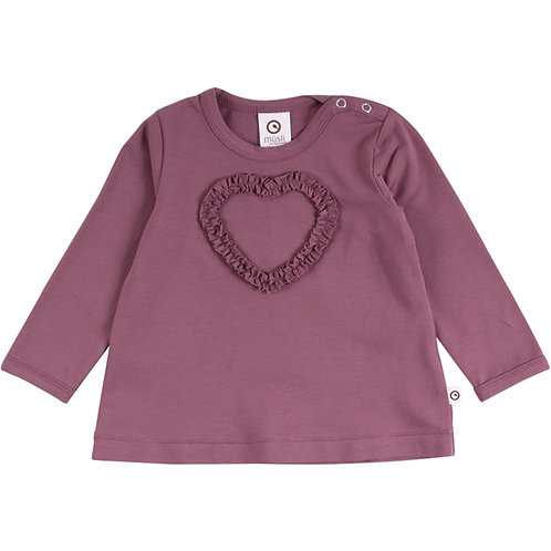 Green Cotton Müsli Cozy me heart Shirt Flint