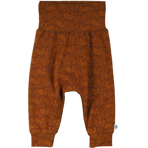 Green Cotton Müsli Rhino Pants Ocher
