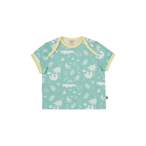 Loud & Proud T Shirt Druck Dschungel Mint
