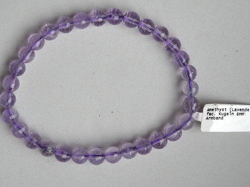 Armband Amethyst,Perlen 6mm fac