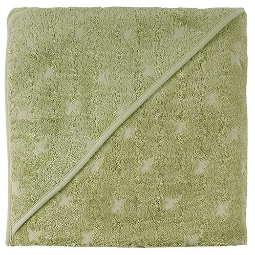 Baby Kapuzen-Badetuch 100x100 pale moss by Green Cotton Müsli