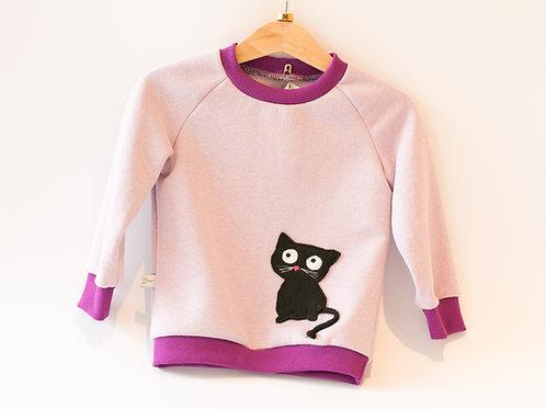 Pullover Katze Sweat Gr. 86