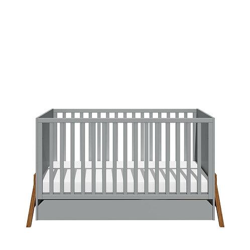 Bisal Kinderbett mit Schublade Lotta 70x140cm grau