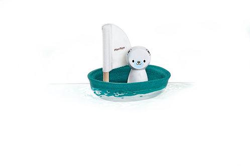 Plan Toys Segel Boot Eisbär