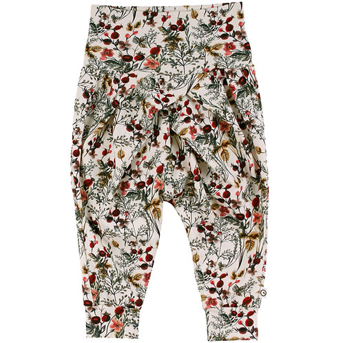 Green Cotton Müsli Winter Flower Pants
