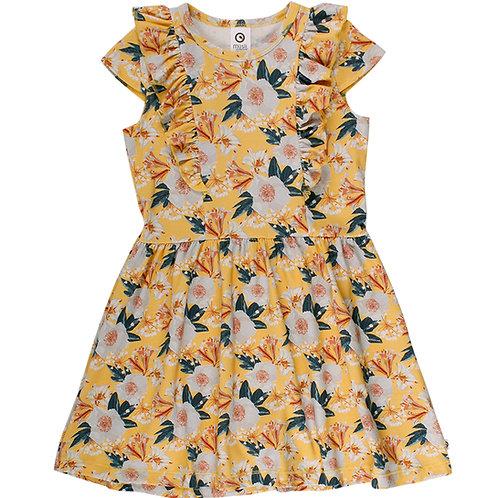 Green Cotton Müsli Bloom Dress/Kleid Sun
