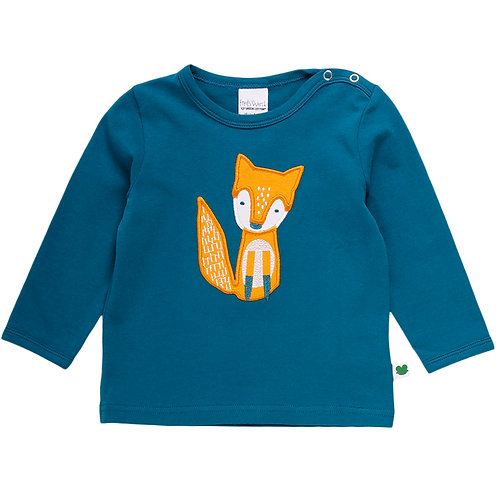 Green Cotton Fred s World Fox Front Shirt langarm