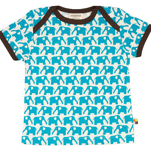 Loud and Proud T- Shirt kurzarm Elefant Aqua