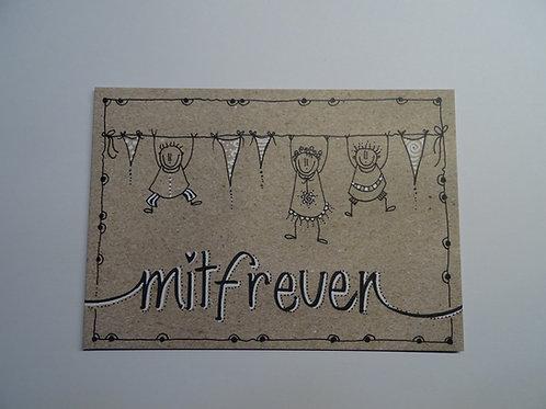 Postkarte Leben-dig mitfreuen