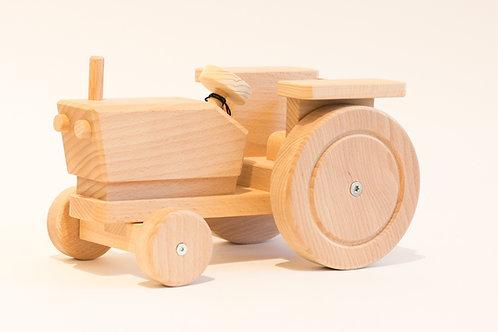 Traktor mit Anhänger, Holz