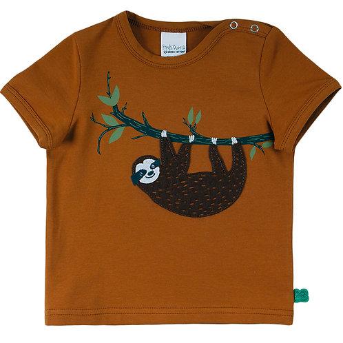 Faultier kurzarm Shirt- T Shirt Pecan by Green Cotton Freds World