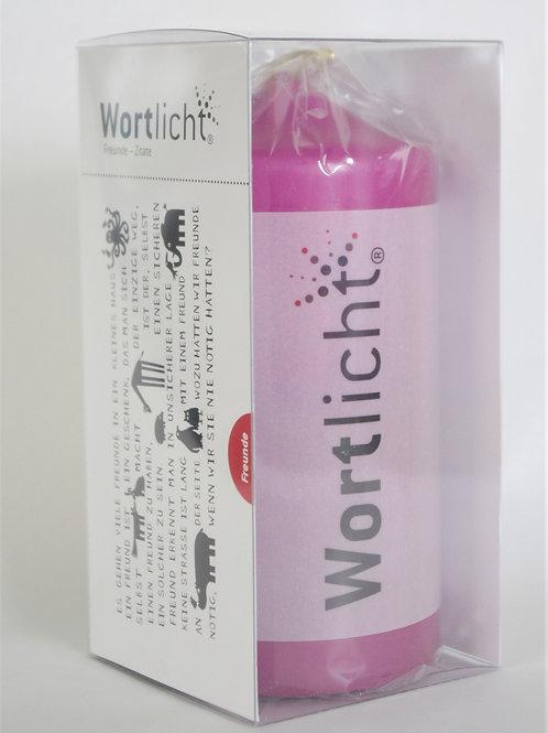 """Kerze Wortlicht """"Freunde - Zitate"""""""