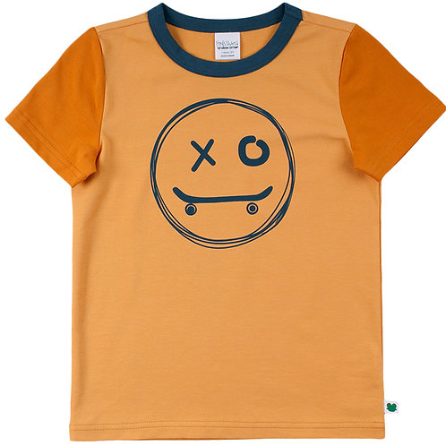 Green Cotton Freds World Skate Smile kurzarm Shirt Mango