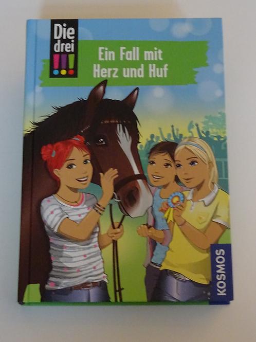 """Buch Die drei !!! """"Ein Fall mit Herz und Huf"""""""