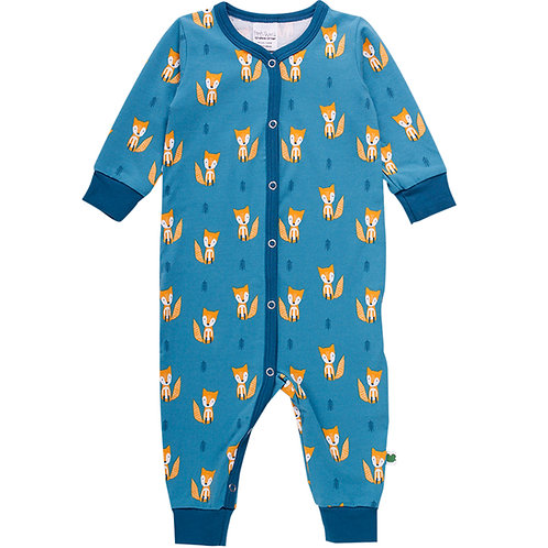 Green Cotton Freds World Fox Bodysuit Dream Teal