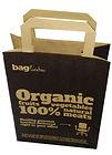 flat handle brown kraft bags with logo