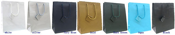 matt euro tote gift bags with solid colors