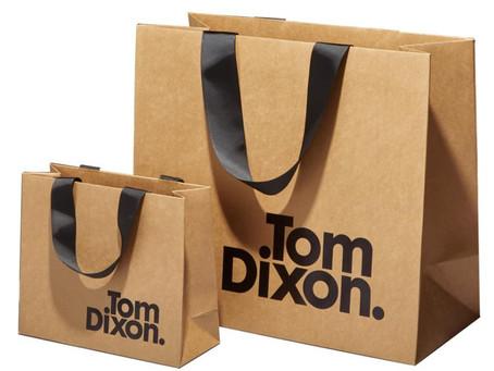 Custom Luxury Brown Kraft Bags With Printed Logo And Ribbon Handle